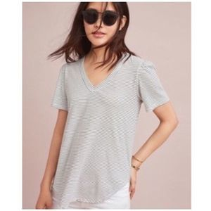 Left of Center Anthropologie Outfield Striped Tee